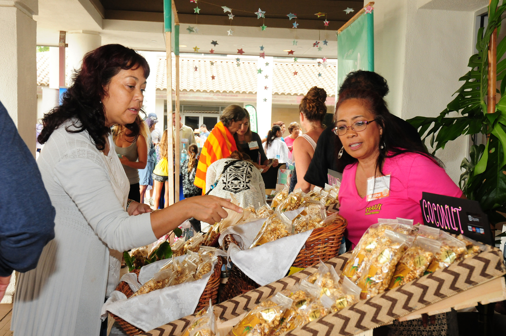 At this year's Festival, Maui Gourmet Popcorn will once again be selling their popular coffee cookies, taro cookies, macadamia nut brittle, gourmet popcorn and cereal treats.