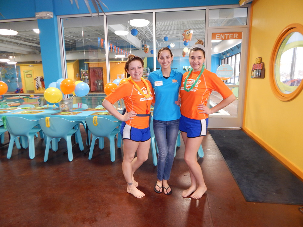 I cannot finish this post without thanking the three wonderful ladies who helped make this party so great. The two in orange were lifeguards and the one in the middle was the party coordinator.    They all did a fabulous job at keeping our kiddos safe making sure everyone was having fun.  It was perfect.