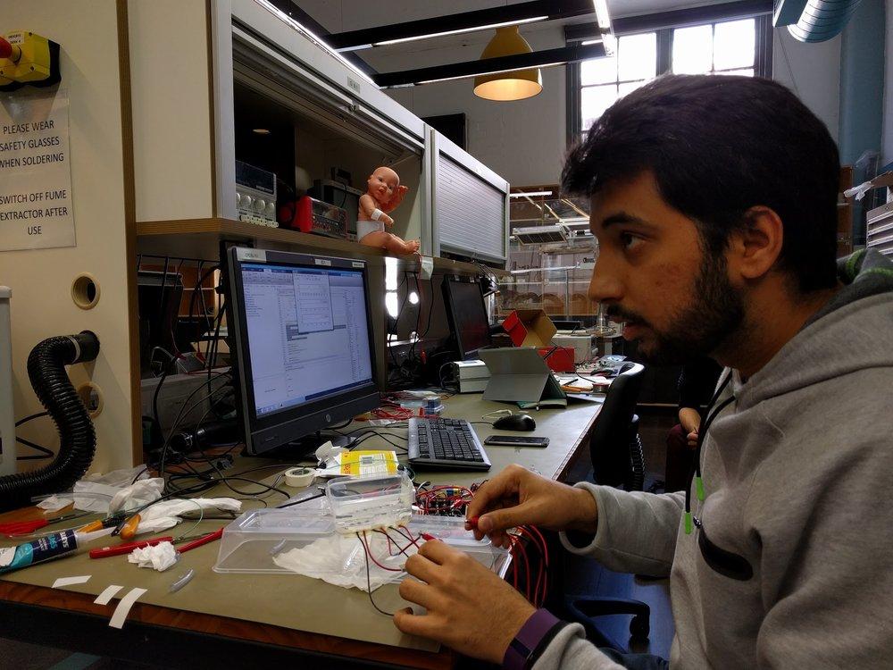 Mubin working on an early neoNAV prototype - circ. 2016